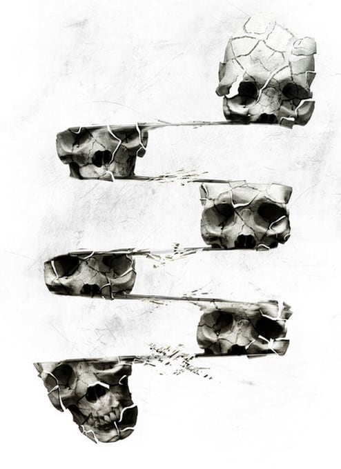 Illustrations and Digital Artworks by Ali Gulec -skull