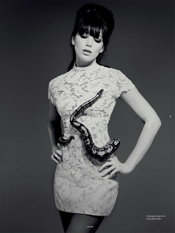 Daisy Lowe in two Photoshoots -Will Davidson, photo session, fashion-photographer