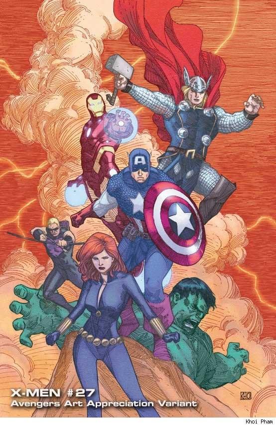 "5b794 0014 - Marvel Unveils ""Avengers Art Appreciation"" Variant Covers"