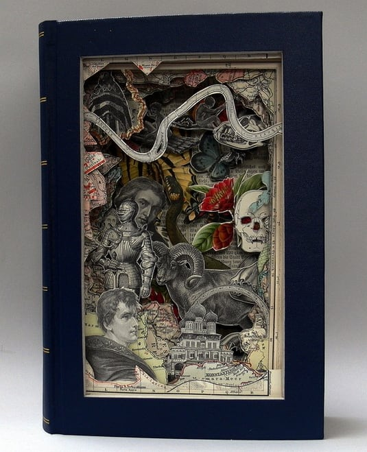 Book Art by Alexander Korzer-Robinson -paper-art, books