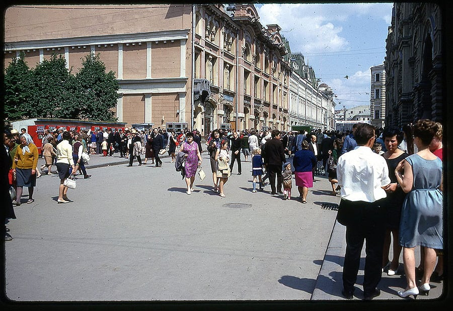 11100 Moscow 1969 in the lens of the American photographer