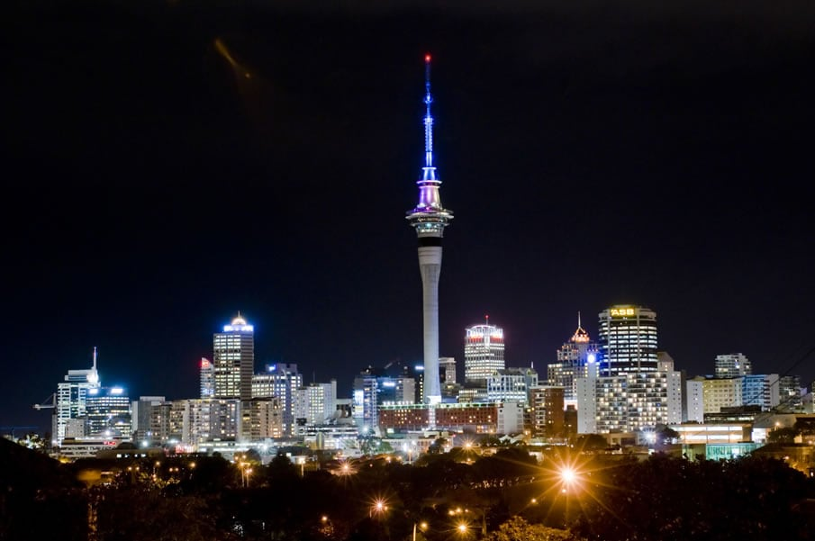 World attractions at night -city