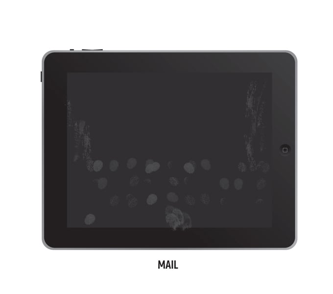 Fingerprints on the iPad -ipad