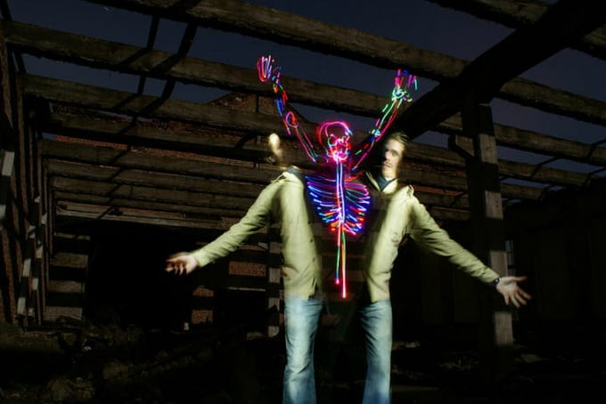 Light Painting Artist Janne Parviainen -photo-series, Light Painting