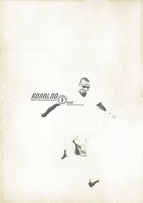 The Greatest Football Players by Zoran Lucic -soccer, posters, illustrator