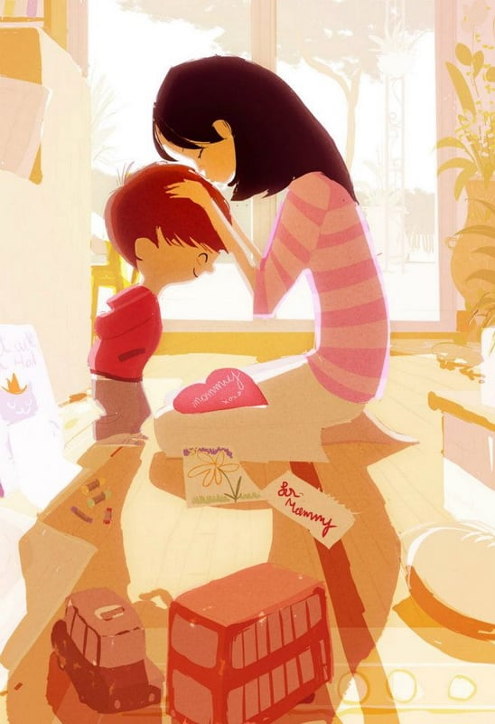 Precious Family Moments by Pascal Campion -illustrator, family, children
