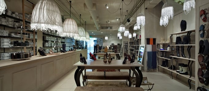 Boutique Luciano Carvari in Dniepropetrovsk -shoes, interior