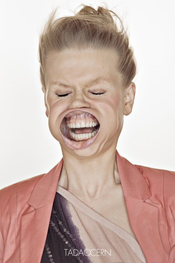 6136 Blow Job Series Captures Faces Blasted with Air