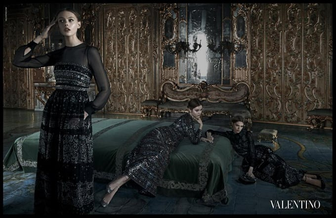 The Advertising Campaign Valentino Fall / Winter 2012 -photo session, Frida Gustavsson, advertising campaign