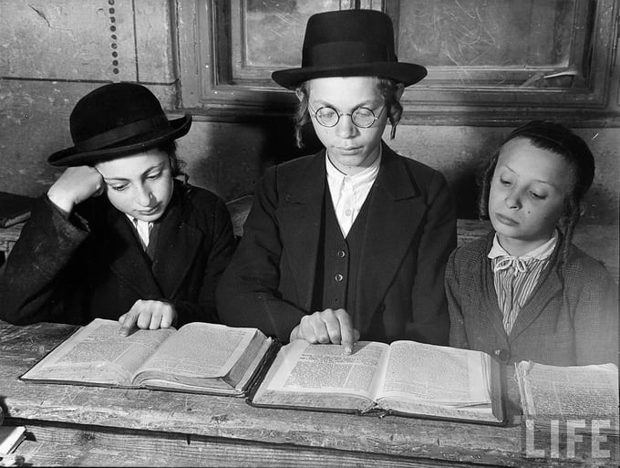Jewish children learn Talmud