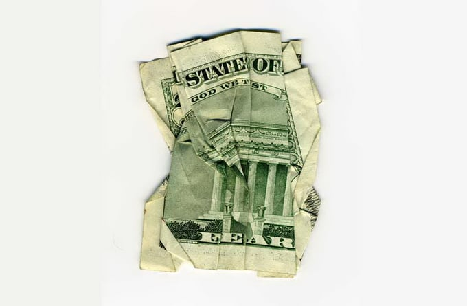 Dollar collages by Dan Tague -collage, artist