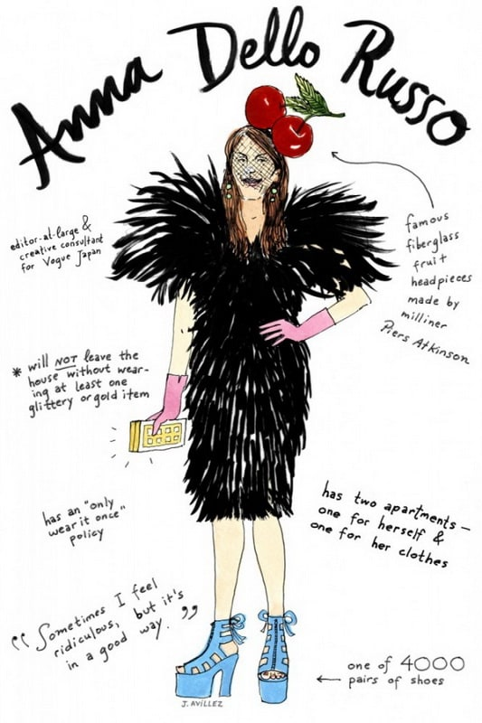 Fashion Icon Illustrations by Joana Avillez