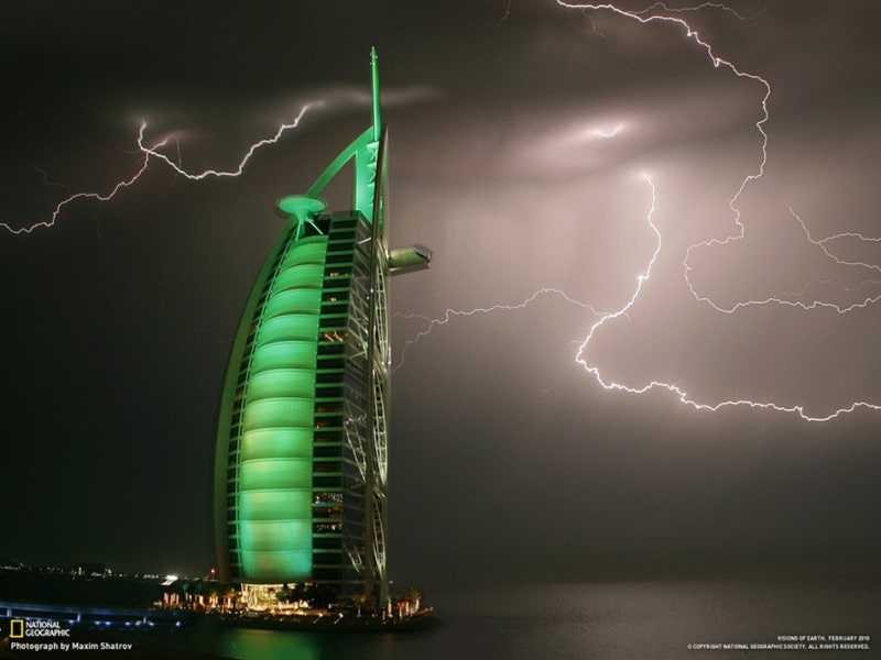 """Lightning in Dubai"" by Maxim Shatrov"
