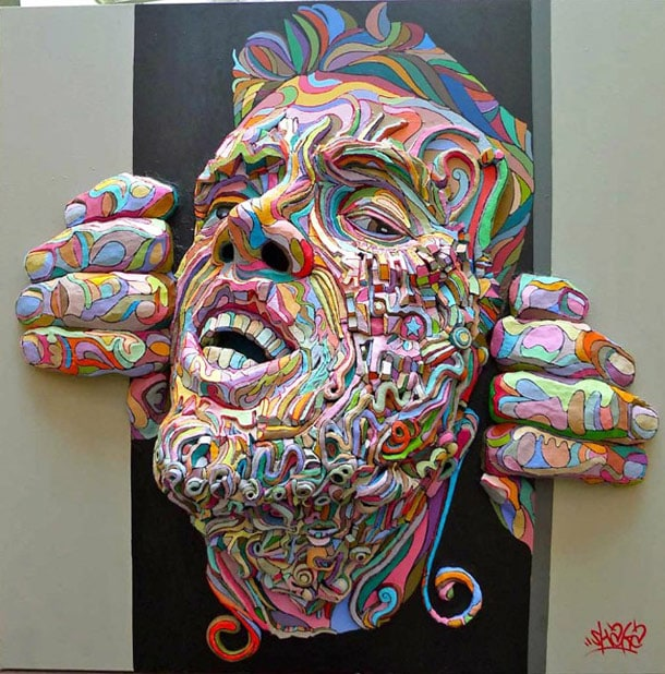 Shaka's 3D Paintings and Graffiti