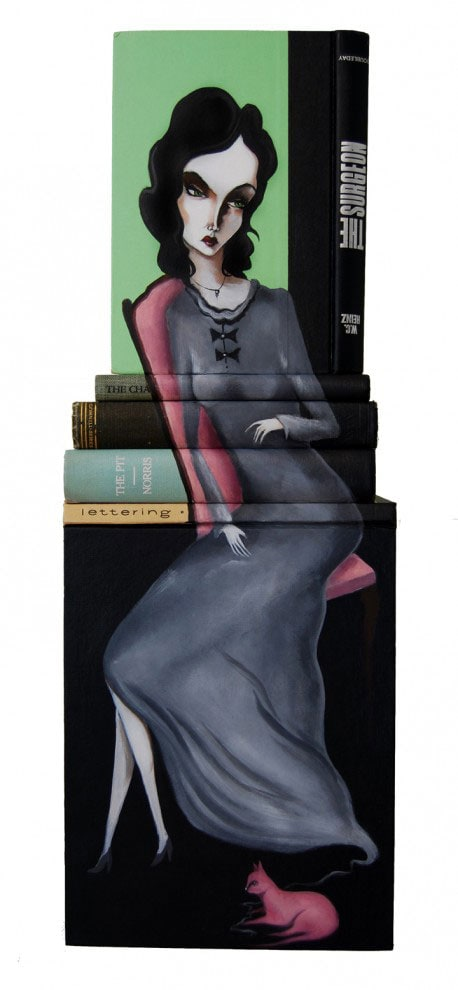 Painted Book Sculptures by Mike Stilkey -paper-art, books