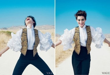 Anne Hathaway Covers US Vogue December 2012