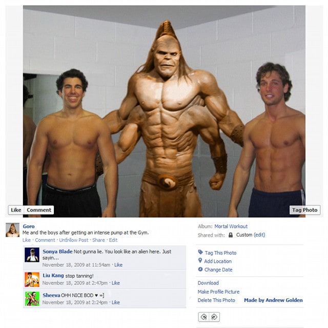 Goro Mortal Kombat Video Game Character Facebook Profiles - Video game Characters Get Real with Facebook Photos
