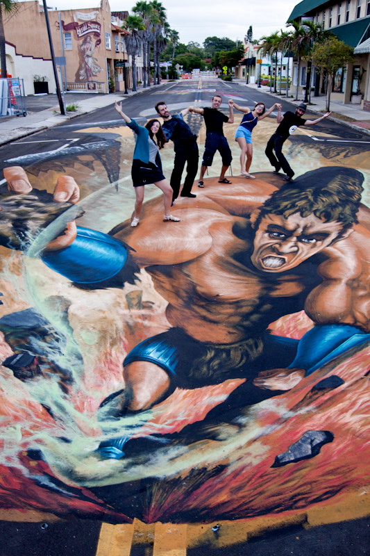 Chalk Festival Tuesday finished work