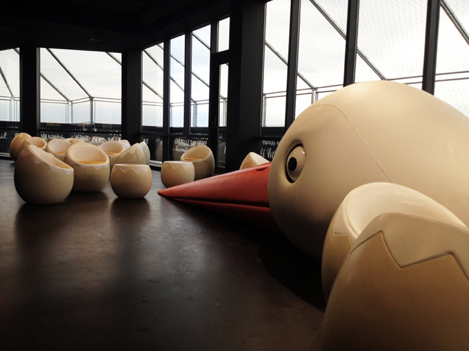 Le Nid: Large Bird-Shaped Bar From Jean Jullien