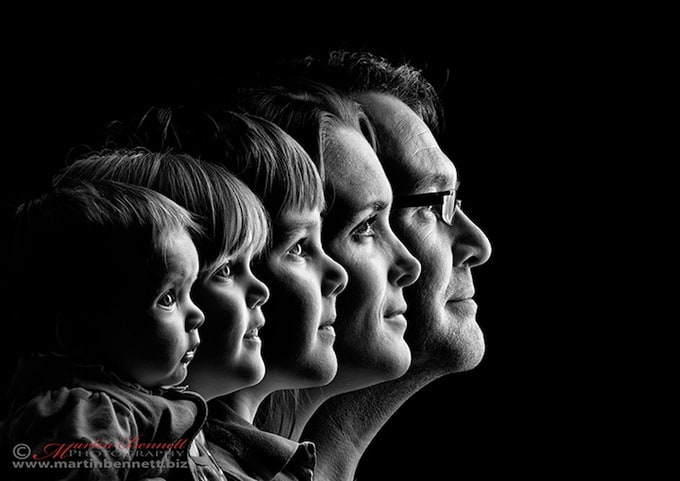 A series of a family portraits -portraits