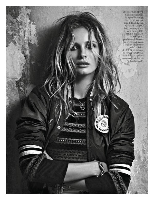 Edita Vilkeviciute in Vogue Spain January 2013 -vogue spain, photo-shoots, patrick demarchelier, models, Edita Vilkeviciute