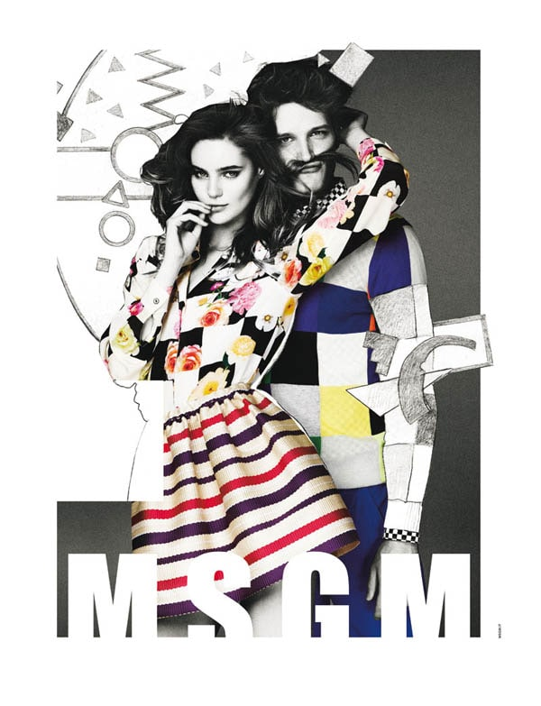 Advertising campaigns Emilio Pucci and MSGM Spring-Summer 2013 -photo session, advertising campaign