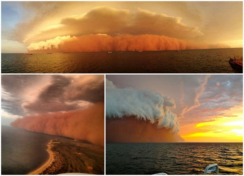 Freakish dust storm on the west coast of Australia