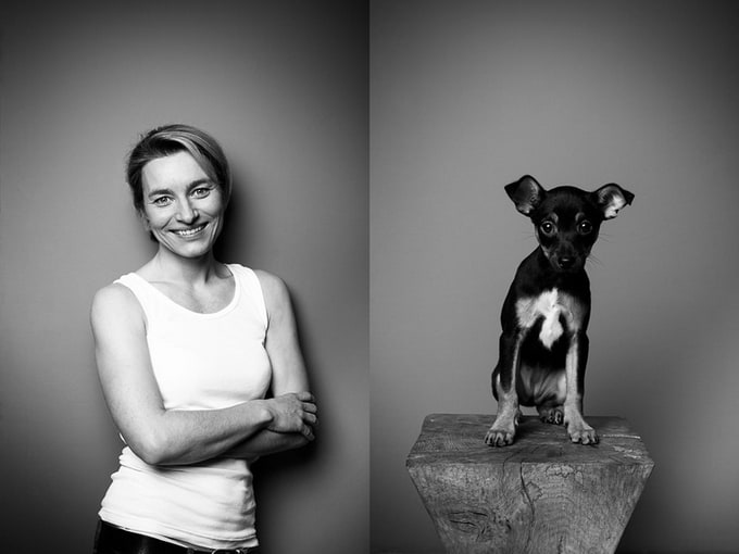 "Series of ""The Little Zoo"" by Tobias Lang -portraits, dogs, cats"