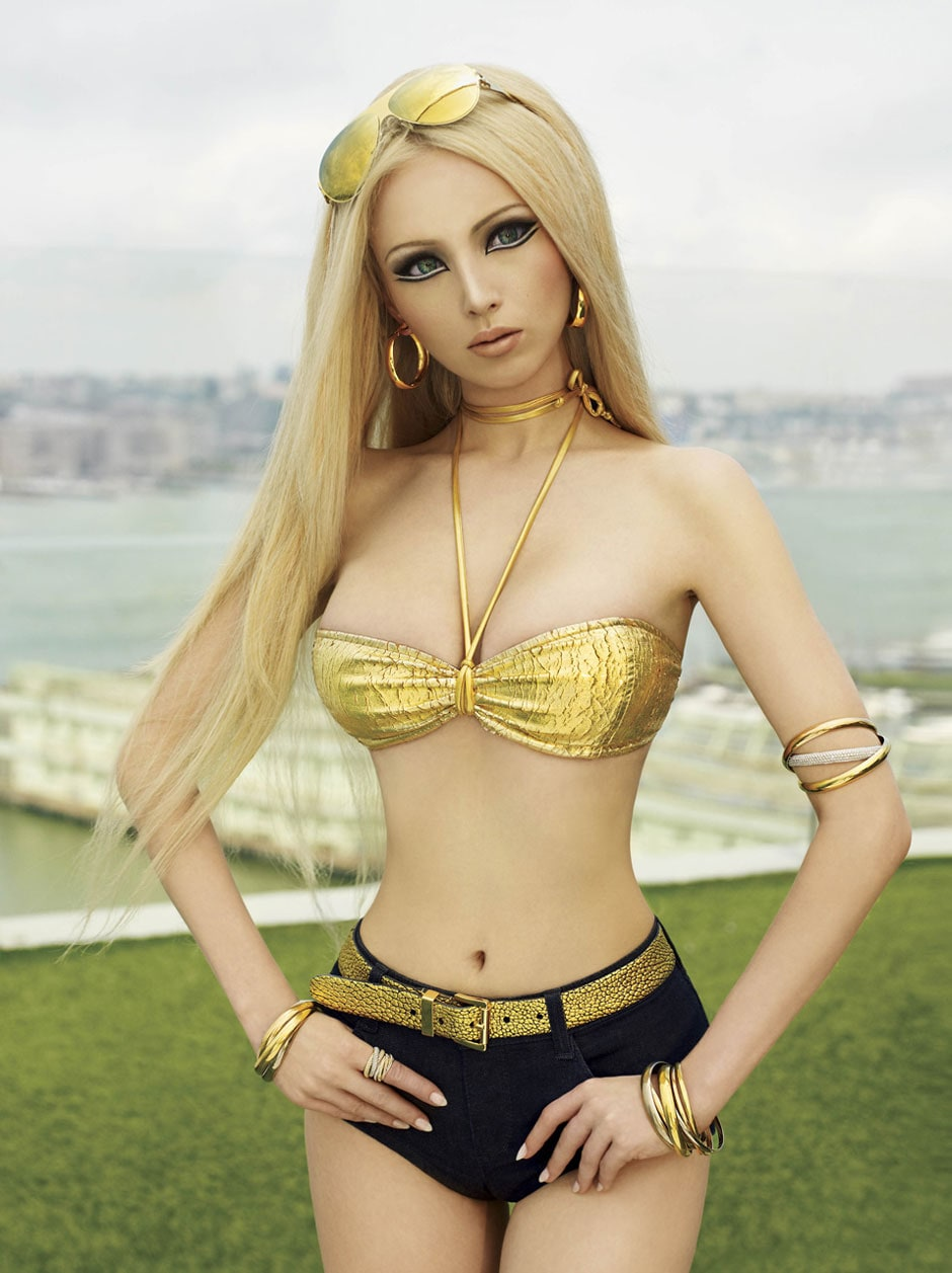 "Valeria Lukyanova in ""Living Doll"" for V Magazine"