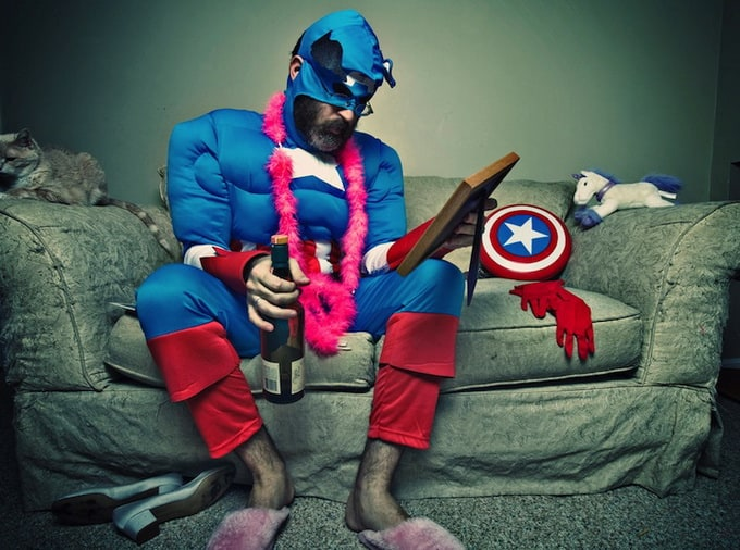 Aging Captain America by Paul Armstrong -superheroes, photo-series