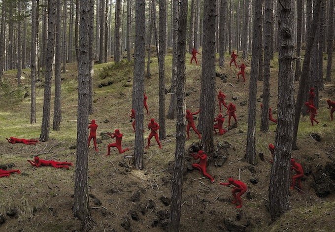 War Scenes with Human 'Toy Soldiers' by Jean Yves Lemoigne