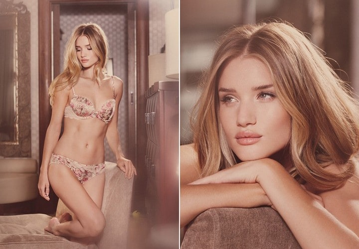 Rosie Huntington-Whiteley in Marks & Spencer's lingerie