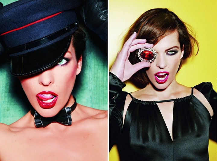 Milla Jovovich in colorful photoshoot by Ellen von Unwerth
