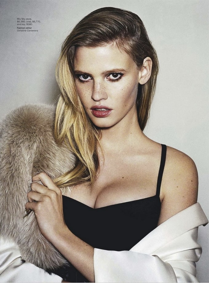 LaraStoneAngeloPennettaVoue02 - Lara Stone Covers Vogue Australia March 2013