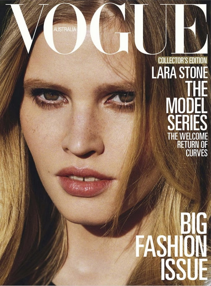 LaraStoneAngeloPennettaVoue05 - Lara Stone Covers Vogue Australia March 2013