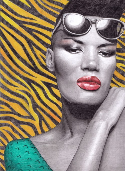 Illustrator Maya Wild -illustrator, celebrities, Bjork