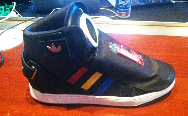 "Google and Adidas developed the ""Talking Shoe"" -google, Adidas"