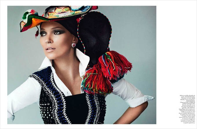 Kate Moss in Vogue Paris -vogue Paris, photo-shoots, models, Mario Testino, kate moss