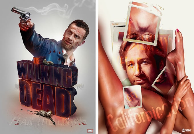 Brilliant TV Show Posters by Adam Spizak