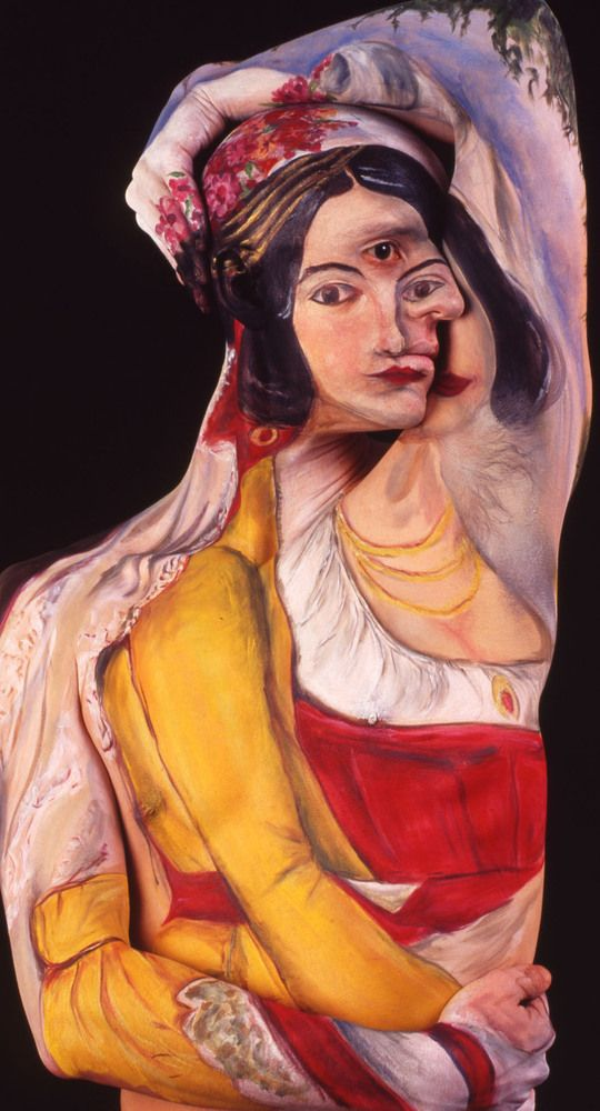 Paintings of the XIX century on the human body -body art