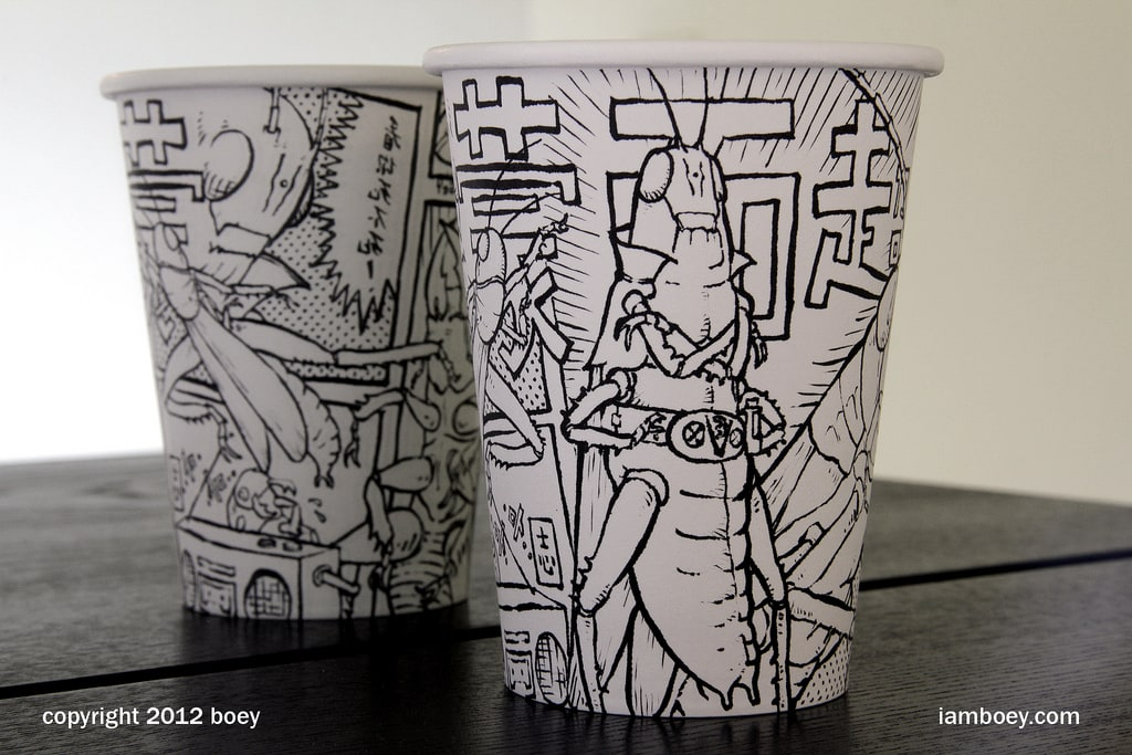Coffee Cup Artwork by Cheeming Boey -SKETCH, coffee