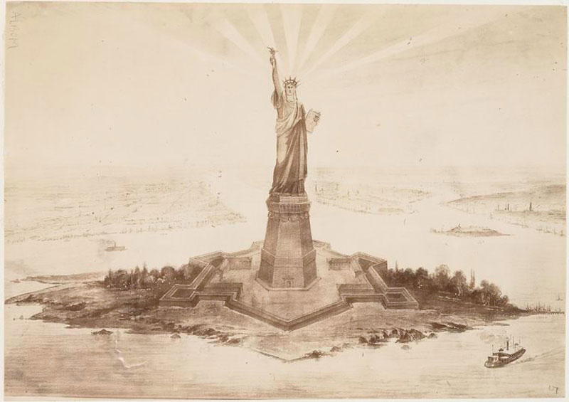 Rare Pictures of the Statue of Liberty Construction