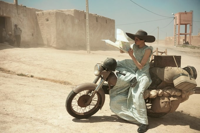 Walk through Morocco with Vogue US -vogues us, Peter Lindbergh, models
