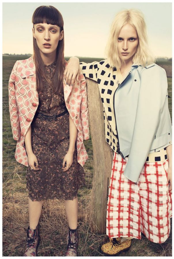 Franzi Mueller and Katrin Thormann for Gala Germany -stylist, photoshoot, photographer, models, model