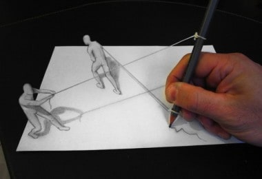 3D-graphic illusions by Alessandro Diddi