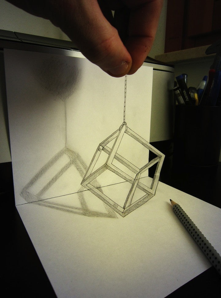 Unbelievable 3D Drawings by Alessandro Diddi -paper-art, drawings