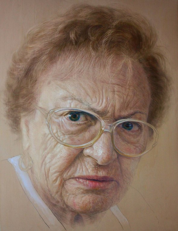 elia vzquez daz belloso created this portrait of elia his maternal grandmother - Realistic Portraits by Ruben Belloso