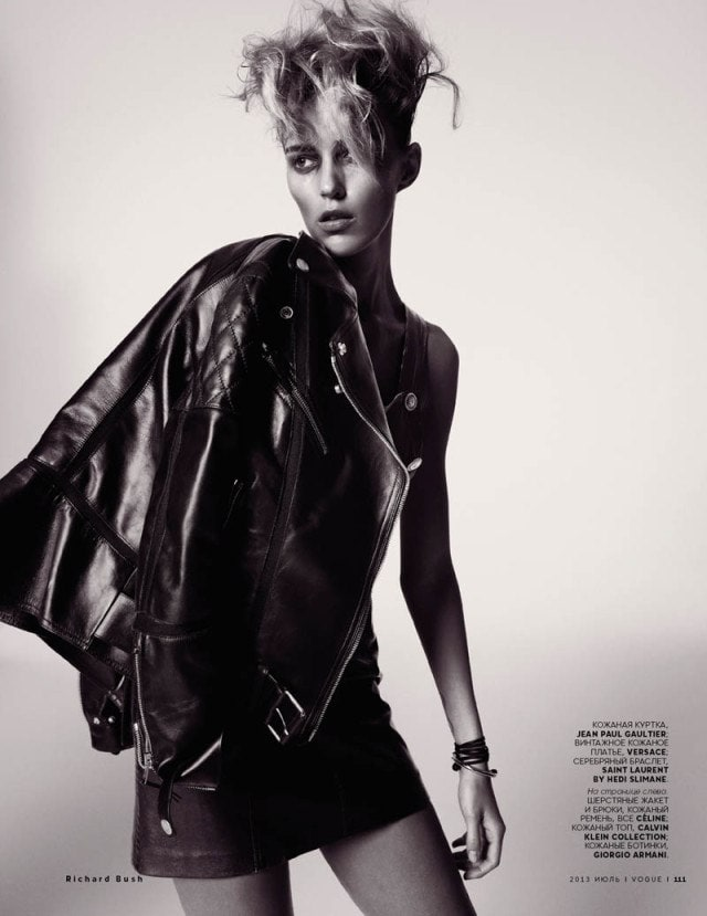 Anja Rubik for Vogue Russia, July -Vogue Russia, vogue, Richard Bush, photoshoot, photographer, models, model, magazine, Anja Rubik