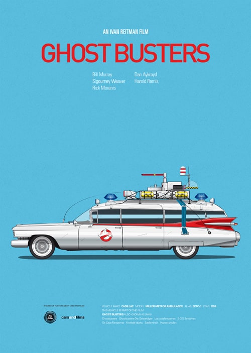 Car and Films by Jesús Prudencio -posters, cars