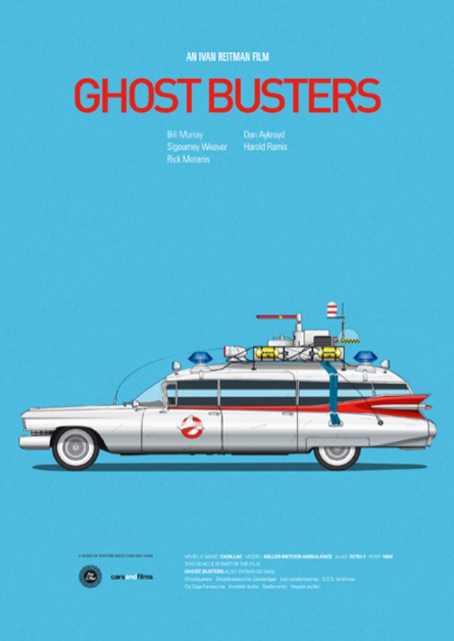 pfc - Posters with cars from movies by Jesús Prudencio